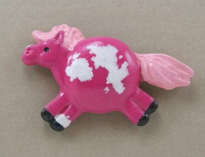 Fat Pony Magnet #020 - Flaxen Pink Frame Overo