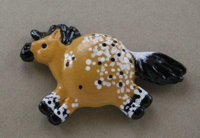 Fat Pony Magnet #043 - Buckskin Extended Blanket Appaloosa