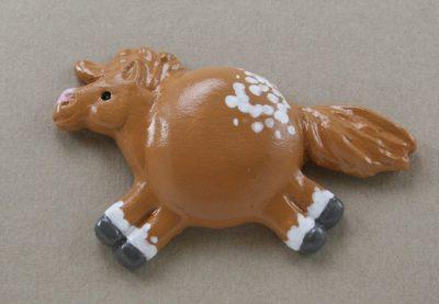 Fat Pony Magnet #045 - Chestnut No Spot Blanket Appaloosa