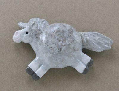 Fat Pony Magnet #048 - Light Dapple Gray