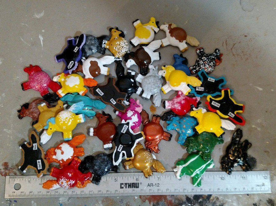 Giant Pile of Fat Pony Magnets