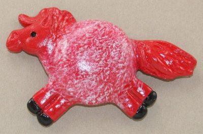 Fat Pony Magnet #039 - Red Roan Front