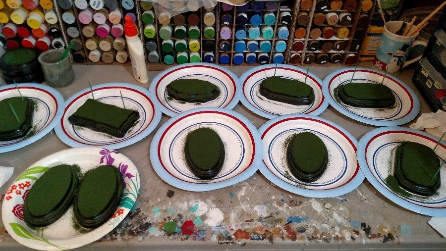 Model Horse Grass Display Bases