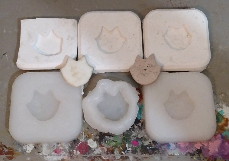 100% Silicone Caulk Mold Making Experiments End Results