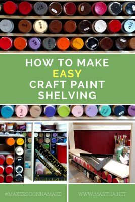 How to Make Easy Craft Paint Shelving