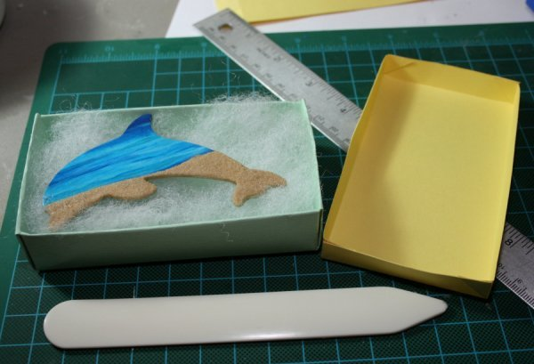 Making a Cardstock Paper Box for the Dolphin Magnets