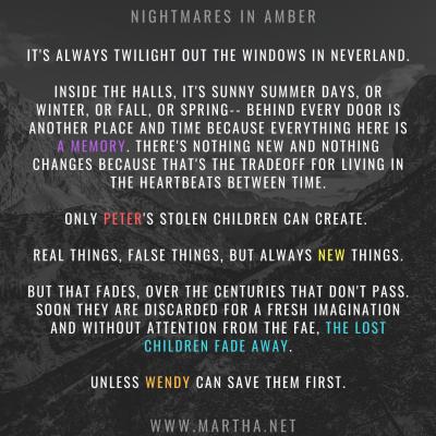 Nightmares in Amber - Drabble 100 words gen - Urban Fantasy