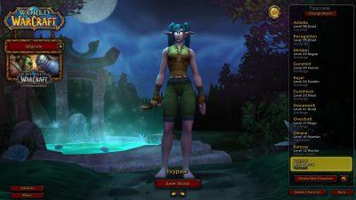 World of Warcraft Login Screen Ivypaw