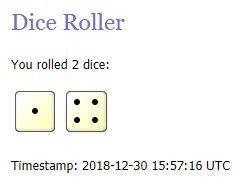Random Roll 2d6 2018-12-30