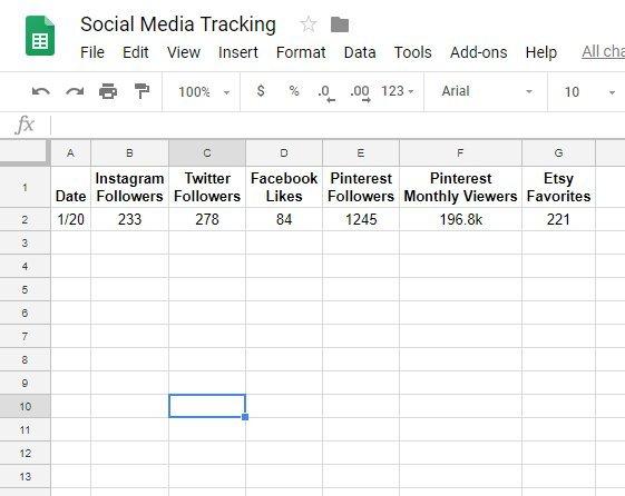 Social Media Tracking 01-20-19