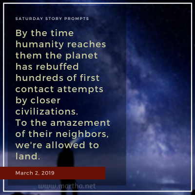034 Saturday Story Prompts 2019-03-02