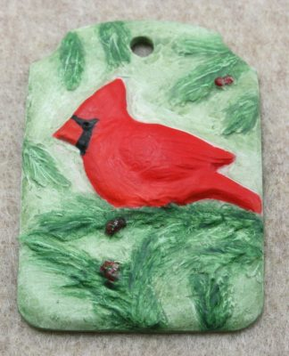 Cardinal Christmas Ornament 001 - Front