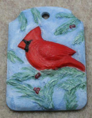 Cardinal Christmas Ornament 002 - Front