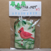 Cardinal Christmas Ornament 003 - Martha Bechtel - Front Bag Tan