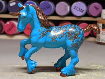 Bergkam Droom - Custom Breyer Stablemate Shire Unicorn - Martha Bechtel - Bright Left