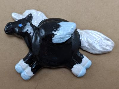 Fat Pegasus Magnet 005 - Black Blue - Martha Bechtel - Gallery Image