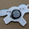 Fat Unicorn Magnet 012 White Aquamarine - Back - Martha Bechtel
