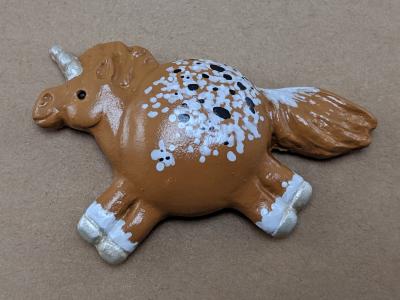 Fat Unicorn Magnet 014 Chestnut Blanket Appaloosa - Back - Martha Bechtel
