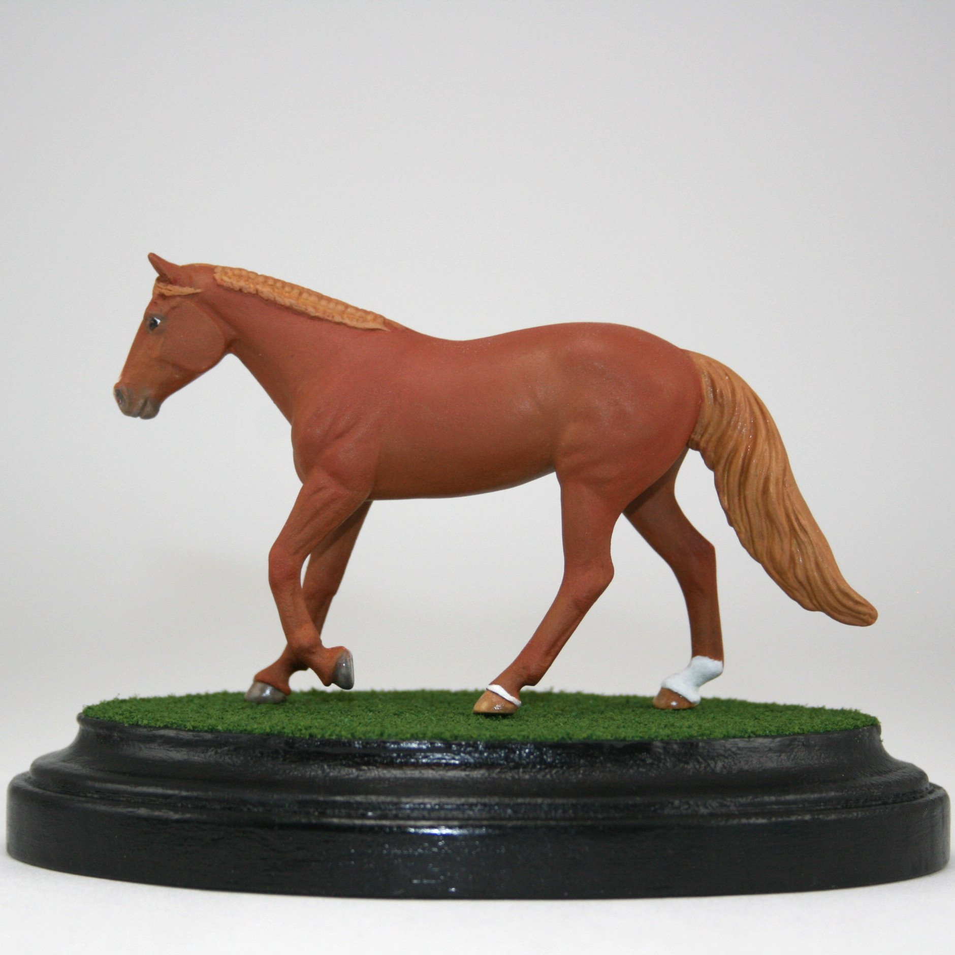 Model Horse Grass Display Base Breyer Stablemate Scale Oval 3 5 Martha Net