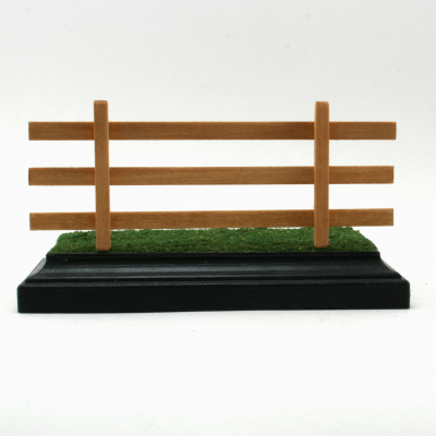 Breyer Stablemate Scale Golden Oak Three Rail Fence Removeable