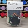 Flat Cat Head Magnet 015 - Martha Bechtel - Back Bag