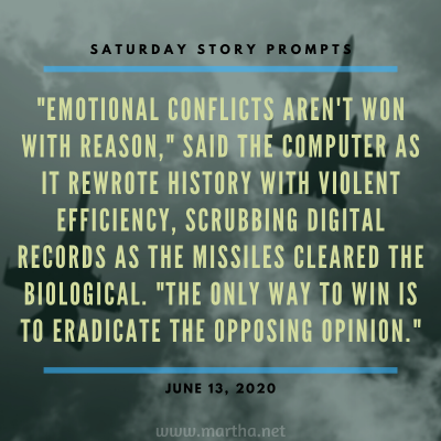 021 Saturday Story Prompts 2020-06-13