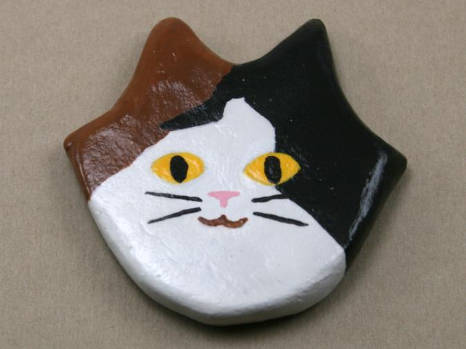 Flat Cat Head 007 - Martha Bechtel - Front Tan