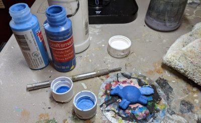 Denim Blue Fat Pony Magnet - Work In Progress