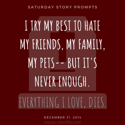 020 Saturday Story Prompts 2014-12-31