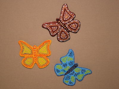 Wooden Butterfly Magnets - Gallery Image
