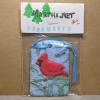 Cardinal Christmas Ornament 002 - Martha Bechtel - Front Bag Tan