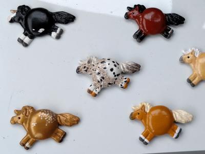 Fat Pony Magnet 024 - Gold Appaloosa - Martha Bechtel - group shot