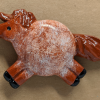 Fat Pony Magnet 128 - Red Roan - Martha Bechtel - front tan