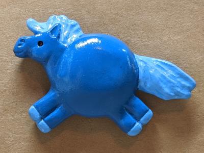 Fat Pony Magnet 130 - Flaxen Blue - Martha Bechtel - Front Brown