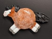 Fat Pony Magnet 131 - Bay Roan - Martha Bechtel - front black
