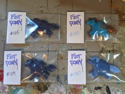 Fat Pony Magnets 105 109 130 132 - Martha Bechtel - Group shot