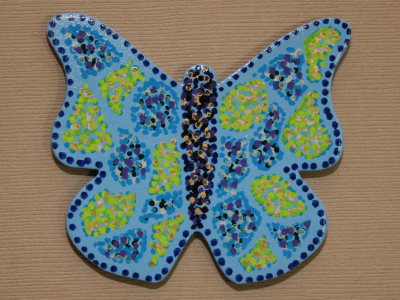 Wooden Butterfly Magnet 001 - Gallery Image