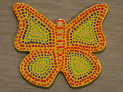 Wooden Butterfly Magnet 002 - Gallery Image