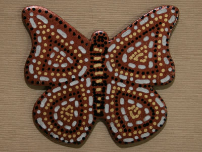 Wooden Butterfly Magnet 003 - Gallery Image