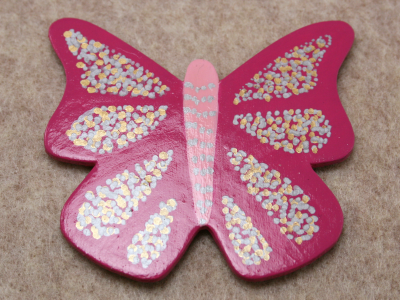 Wooden Butterfly Magnet 004 - Gallery Image