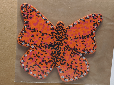 Wooden Butterfly Magnet 006 - Gallery Image