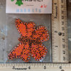 Wooden Butterfly Magnet 006 - Orange - Martha Bechtel - Scale