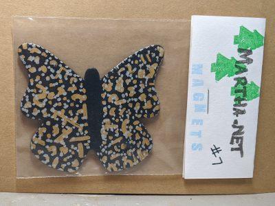 Wooden Butterfly Magnet 007 - Black - Martha Bechtel Front Bag