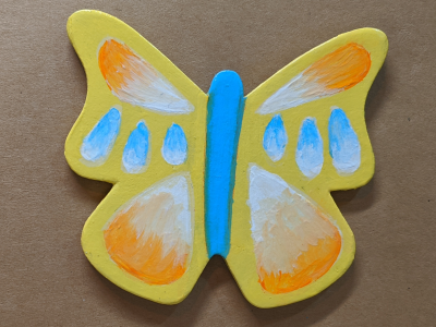 Wooden Butterfly Magnet 008 - Gallery Image