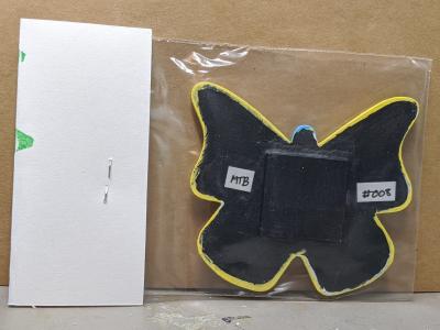 Wooden Butterfly Magnet 008 - Yellow - Martha Bechtel - Back Bag