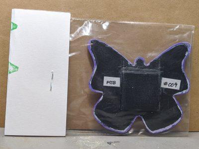 Wooden Butterfly Magnet 009 - Purple - Martha Bechtel Back Bag