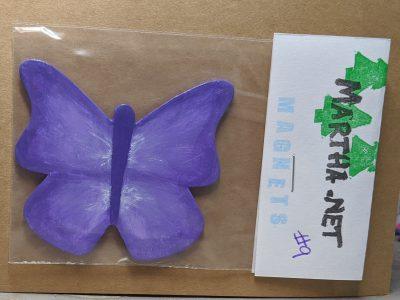 Wooden Butterfly Magnet 009 - Purple - Martha Bechtel Front Bag