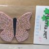 Wooden Butterfly Magnet 010 - Pink - Martha Bechtel - Front bag