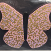 Wooden Butterfly Magnet 010 - Pink - Martha Bechtel - Front bag black