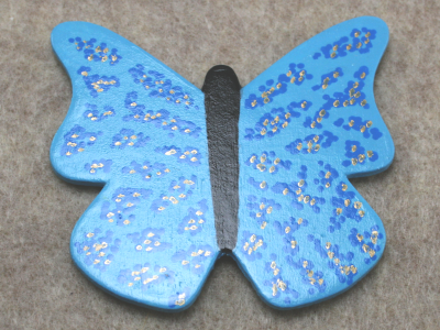 Wooden Butterfly Magnet 011 - Gallery Image